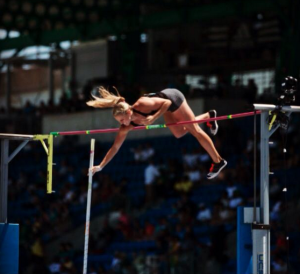 Kelsie Ahbe at the New York Diamond League, 2015
